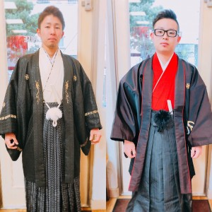 2018年度はお二人の袴姿! スーツもいいですが・・・ PRIDE.RISE綾瀬店/ヘナ100%